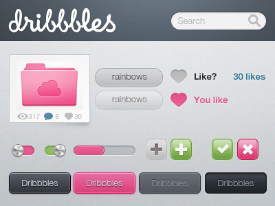 Dribbbles, Just for Fun Of It