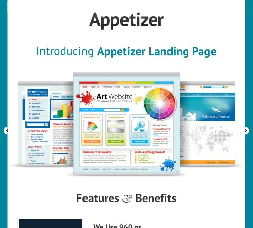 appetizer landing page