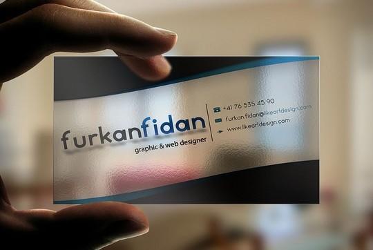 furkan fidan business card