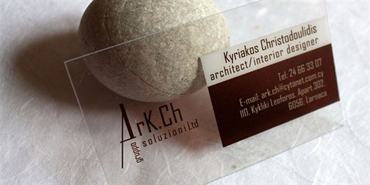 architect group business card