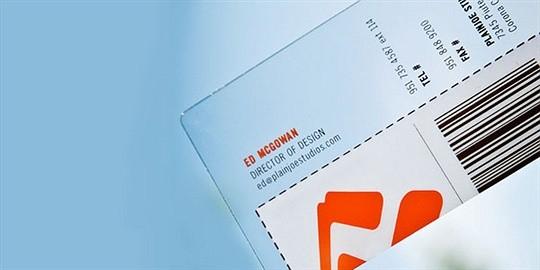 plain joe studios business card