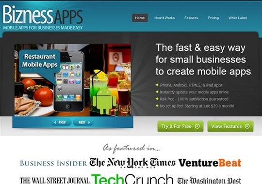 biznessapps - landing page designs