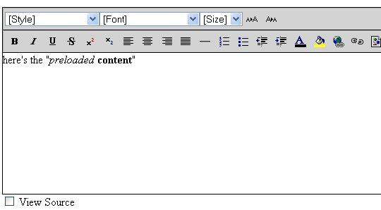 Online edit text