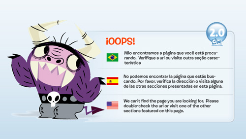 cartoonnetwork 404 error pages