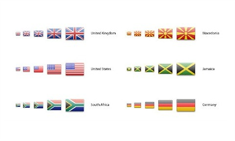 240 Country Flag Icons In Multiple Sizes