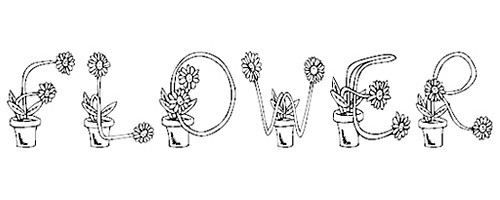 FlowerSketches font