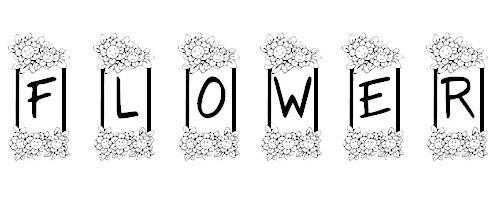 KR Flower Frame font
