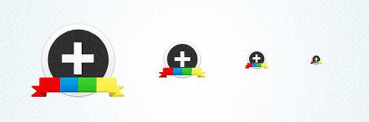 Freebie Google Plus(+) Circular Icon Set