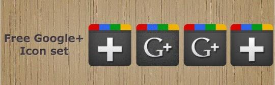 4 Free Google Plus (+) Icons