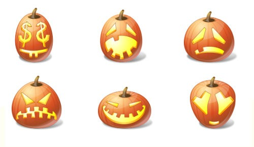 Vista Halloween Pumpkin Icons
