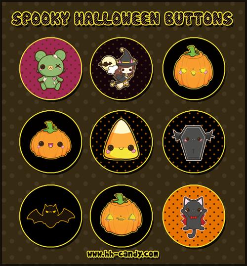 Spooky Halloween Buttons