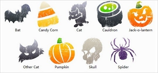 Litho Halloween Icons