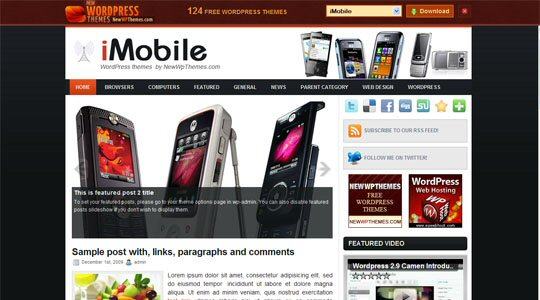 iMobile WordPress Themes