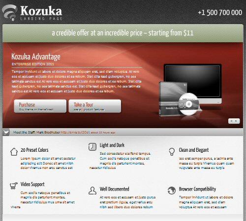 kozuka landing page
