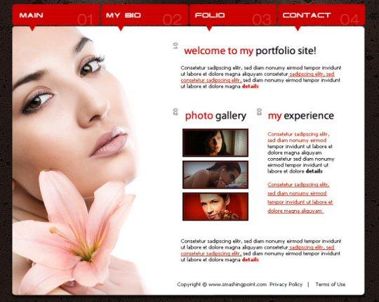 Model portfolio layout