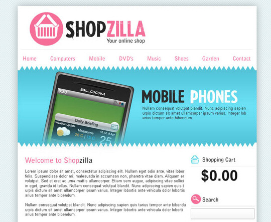 Design a Clean and Colorful Ecommerce Layout in Photoshop