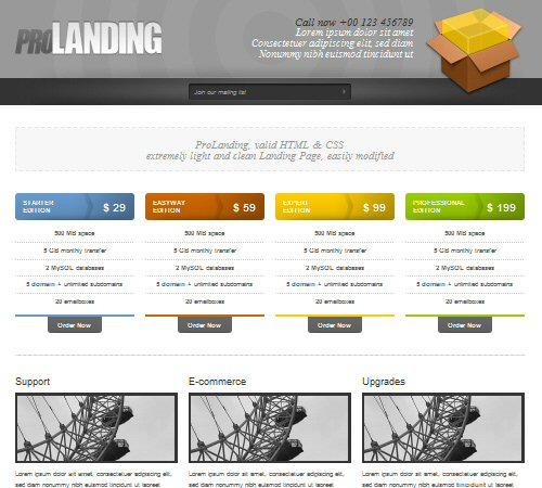 pro landing html