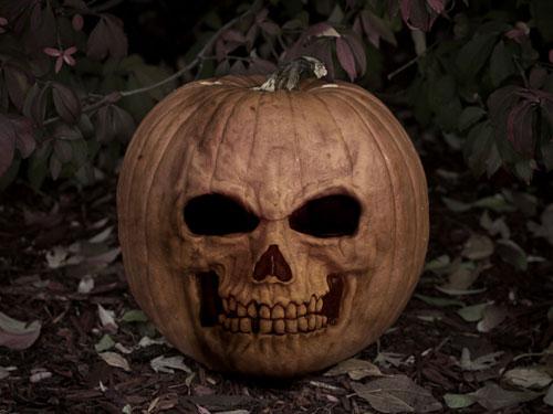 Halloween Pumpkin - Skull
