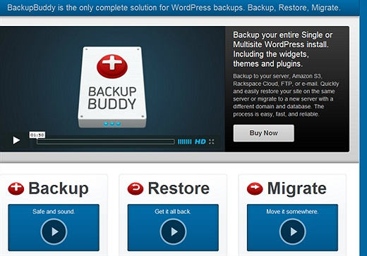 BackupBuddy (Premium) WordPress Plugin