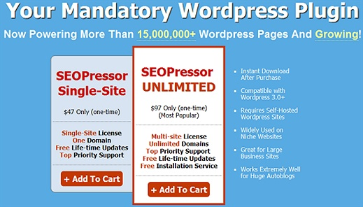 SEO Pressor (Premium) WordPress Plugin