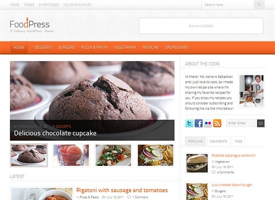FoodPress WordPress Theme