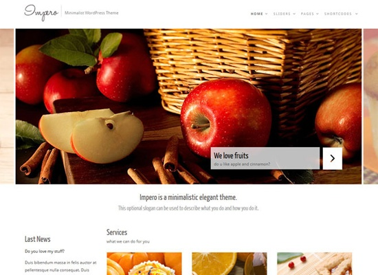 Impero: Minimalistic WordPress Theme