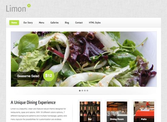 Limon A Restaurant and Spa Wordpress Theme