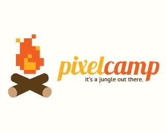 Pixel Camp Logo Design