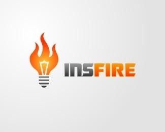 Insfire Logo Design