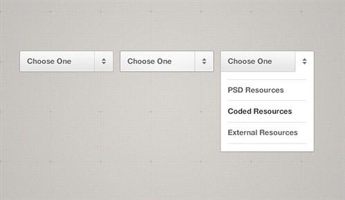 simple little dropdown menu psd web element