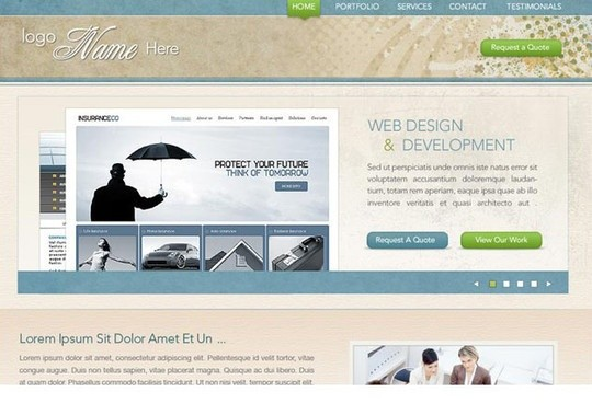 design firm - free psd portfolio web template