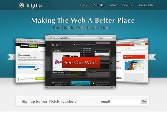 signia - free psd portfolio template