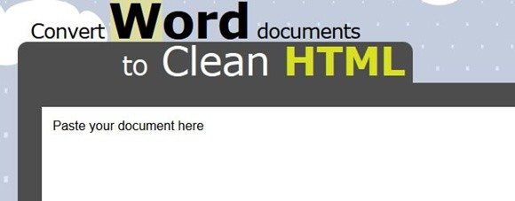 word2cleanhtml – convert word documents to clean html
