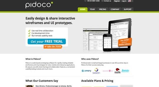pidoco wireframe tool