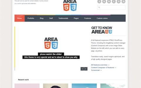 area53 – responsive html5 wordpress theme