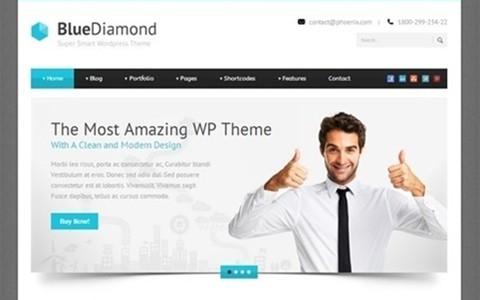 blue diamond – responsive corporate wp theme