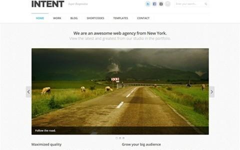 intent – business & portfolio wordpress theme