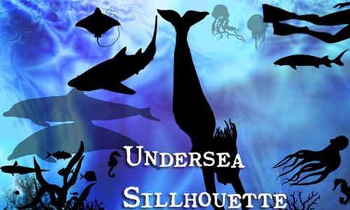 undersea sillhouette brushes
