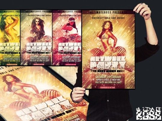 free artwork party flyer psd