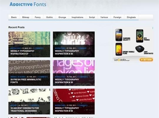 addictive fonts
