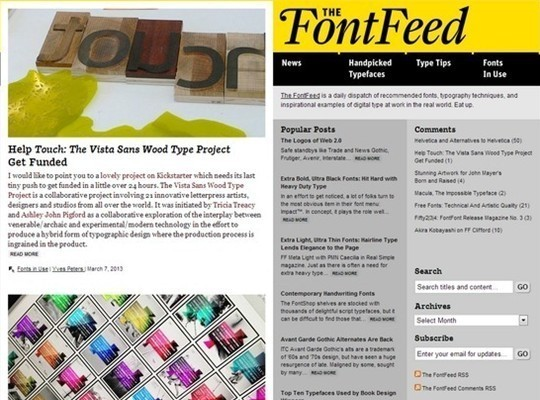 the font feed
