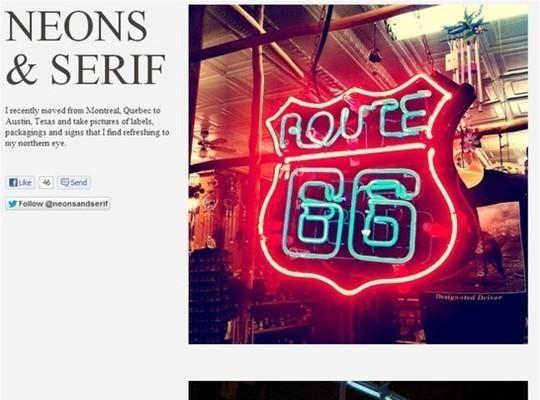neons and serif