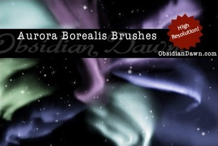 aurora borealis brushes