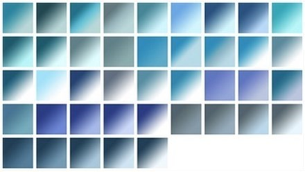 gradients: blues