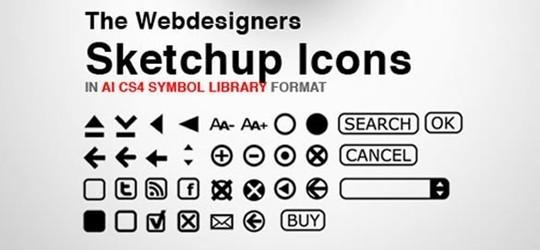 webdesigner sketchup icons