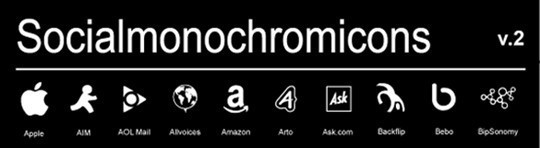 socialmonochromicons v.2