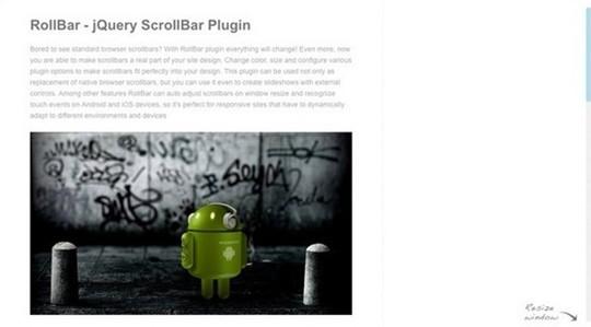 rollbar – jquery scrollbar plugin