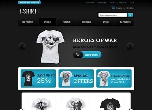 t-shirt store magento theme