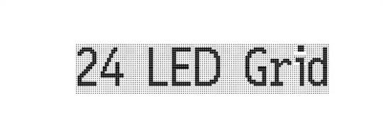 24 led grid font