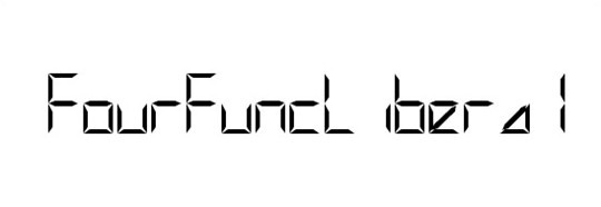 fourfuncliberal font